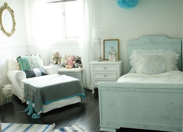 интерьер детской комнаты, комната для девочки, бело-голубая гамма в нтерьере, детский интерьер, child room, room for girl