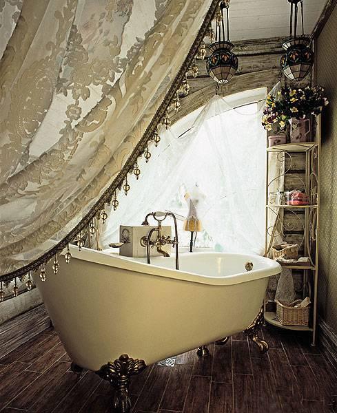 винтаж, винтажная ванная комната, ретро стиль в интерьере, интерьер ванной комнаты, дизайн ванной комнаты, фото, винтажная ванная,