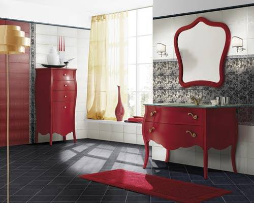 for Brown and red bathroom ideas
