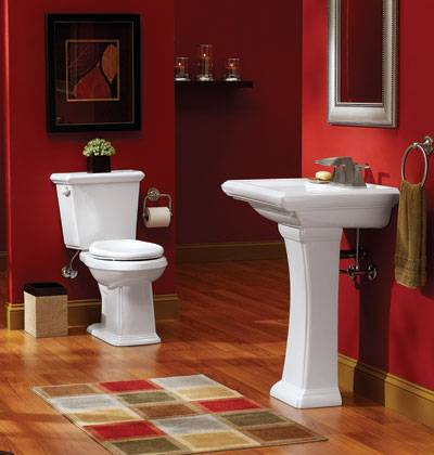 for Bathroom ideas red and black