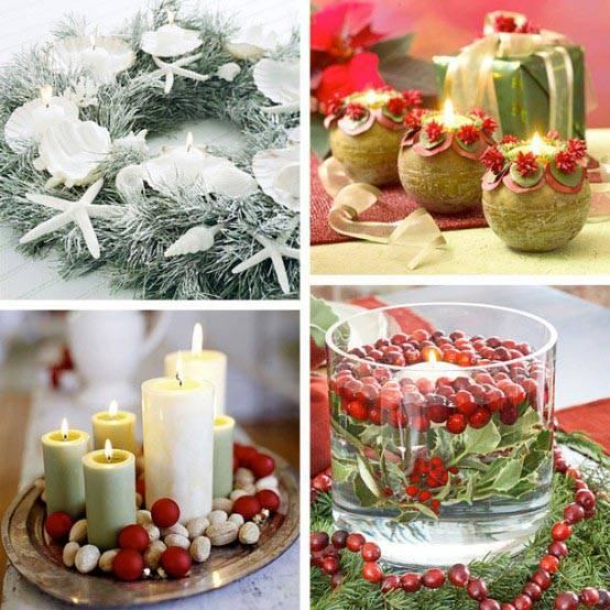 праздничный декор, новогодний декор, свечи на праздник, свечи в интерьере, фото красивых интерьеров