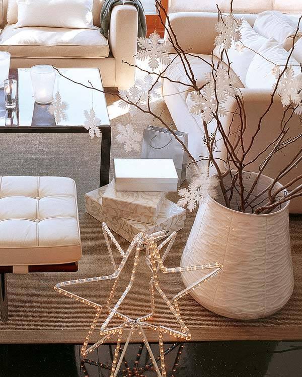 белое рождество, рождество в белом цвете, новый год в белом цвете, белый праздничный декор, белый новый год, белый дизайн интерьера