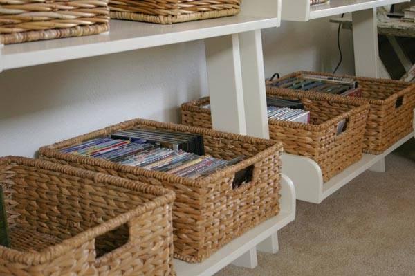 Время проведения ремонта в квартире.  Тем более что изготавливать самодельные корзины можно нужного размера...