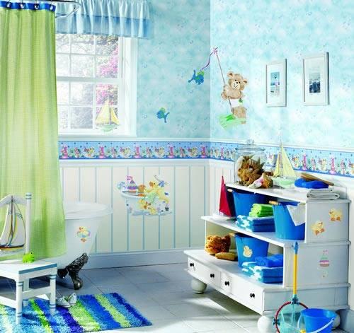 for Wallpaper borders bathroom ideas