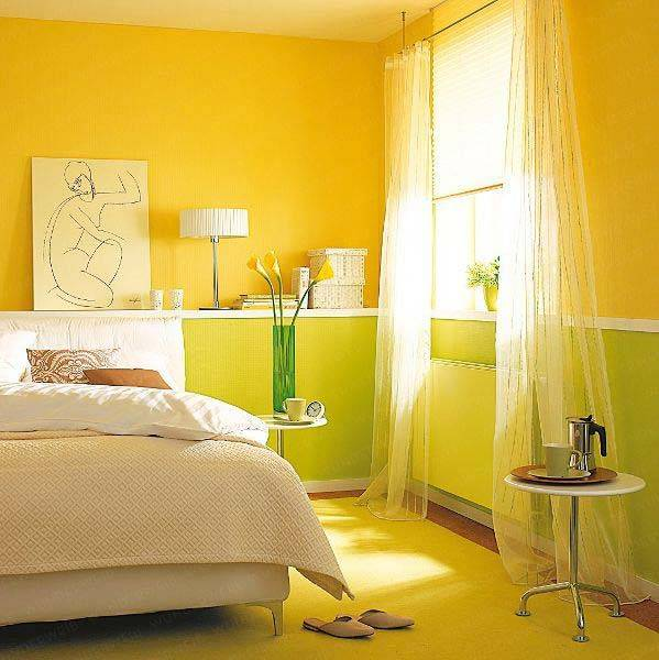 for Bright yellow bedroom ideas