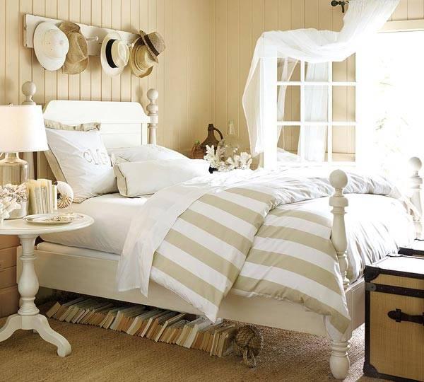 ящики под кроватью, плетеные корзины под кроватью, места для хранения под кроватью, хранение в спальне, фото, красивые интерьеры