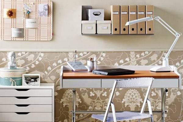 рабочее место, кабинет на дому, home office, рабочая зона в доме, рабочий кабинет, красивій интерьер, фото
