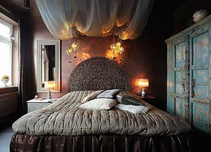 Ретро-мебель в дизайне спальной комнаты фото