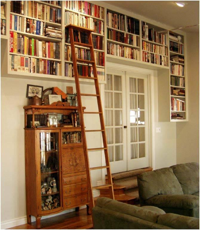 интерьер домашней библиотеки фото