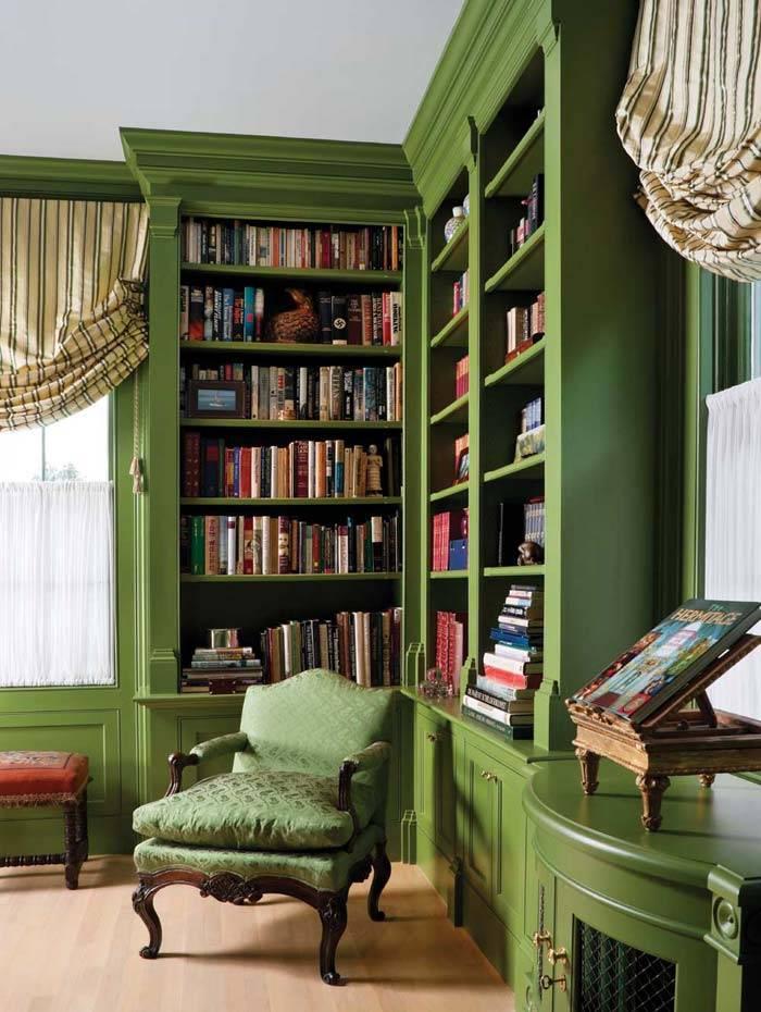 книжные шкафы домашней библиотеки
