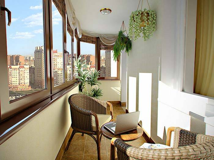 красивый и уютный балкон