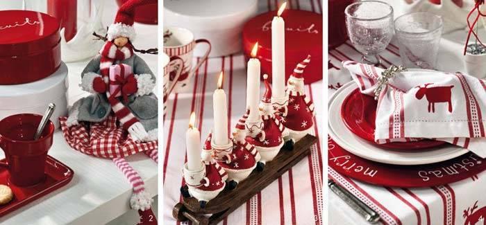 новый год, красно-белый декор