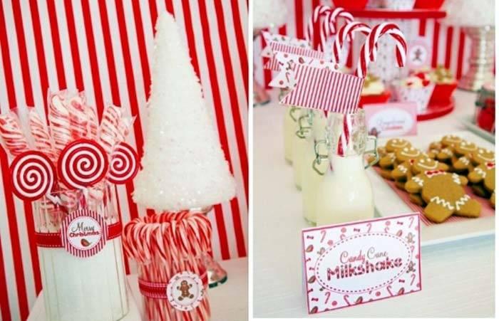 красный и белый цвета в новогоднем декоре
