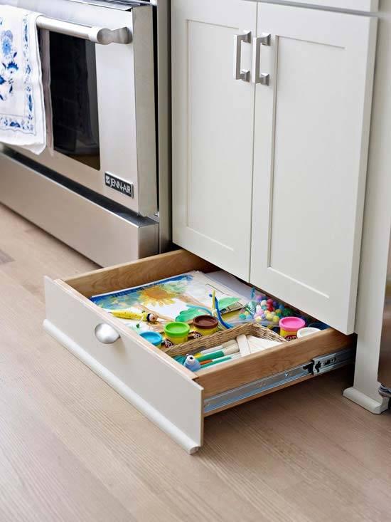 организация мест для хранения на кухне