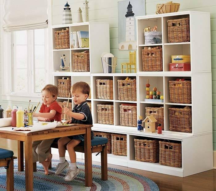 система хранения в детской комнате