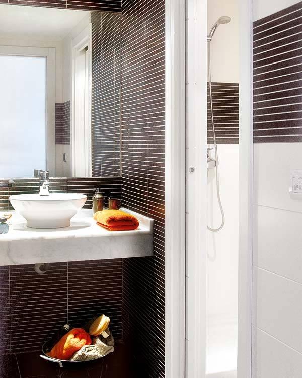 красивая ванная комната в сером цвете