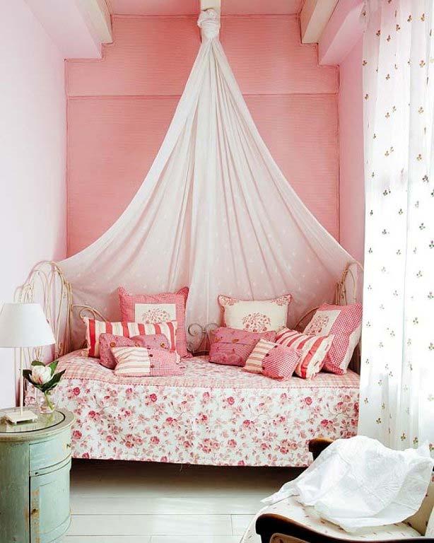 комната для девочки с балдахином