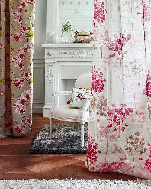 цветочный орнамент в декоре интерьера