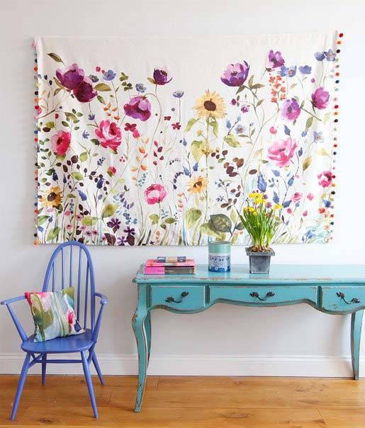 interior floral print