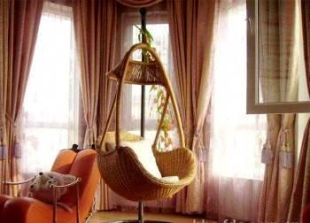 подвесные кресла - качели в интерьере