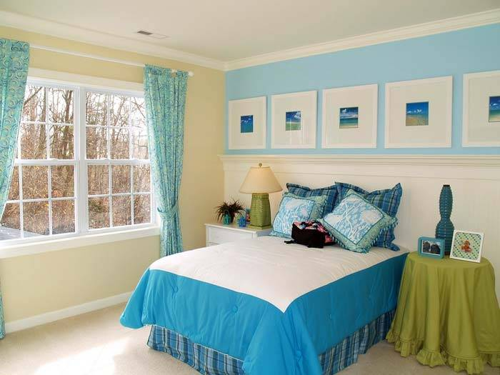 красочная спальня