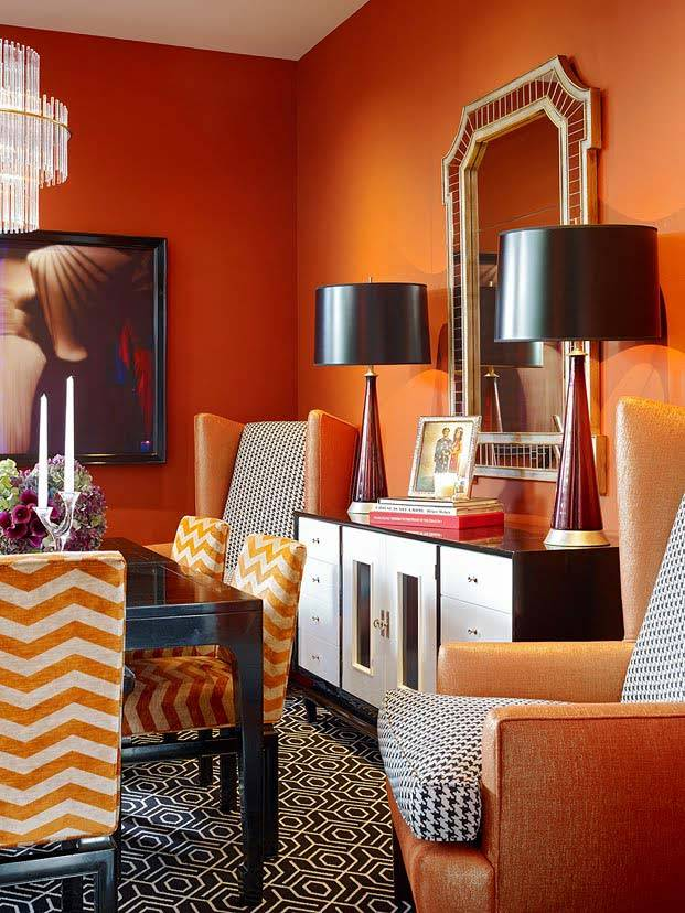 for Orange and black living room ideas