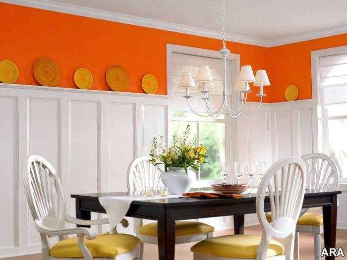 оранжевый декор