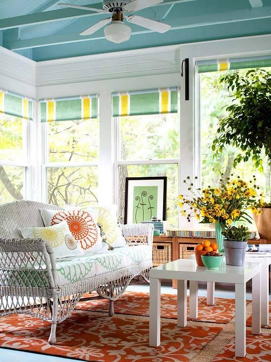 интерьер, плетеная мебель