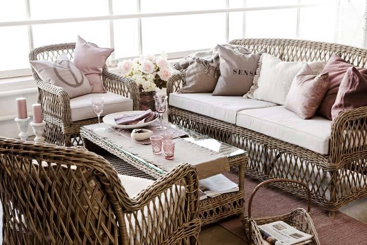 Плетёная мебель в интерьере квартиры фото