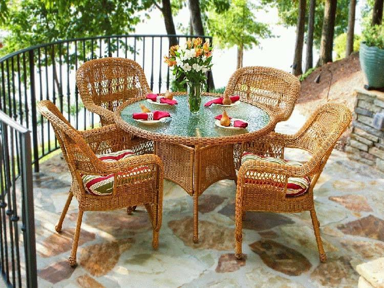 плетеная мебель, балкон