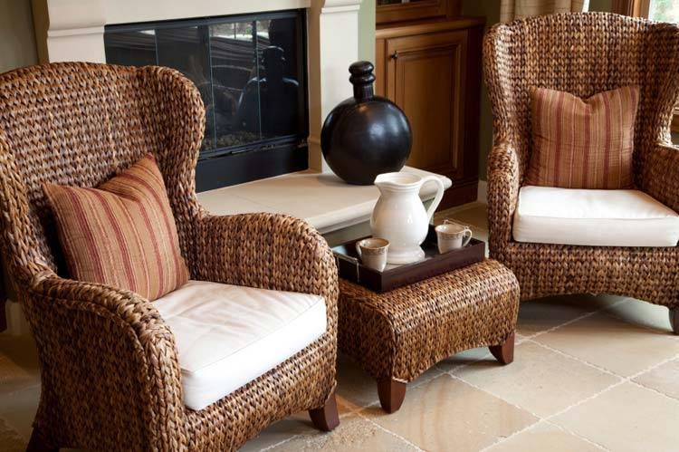 плетеная мебель, балкон, терраса