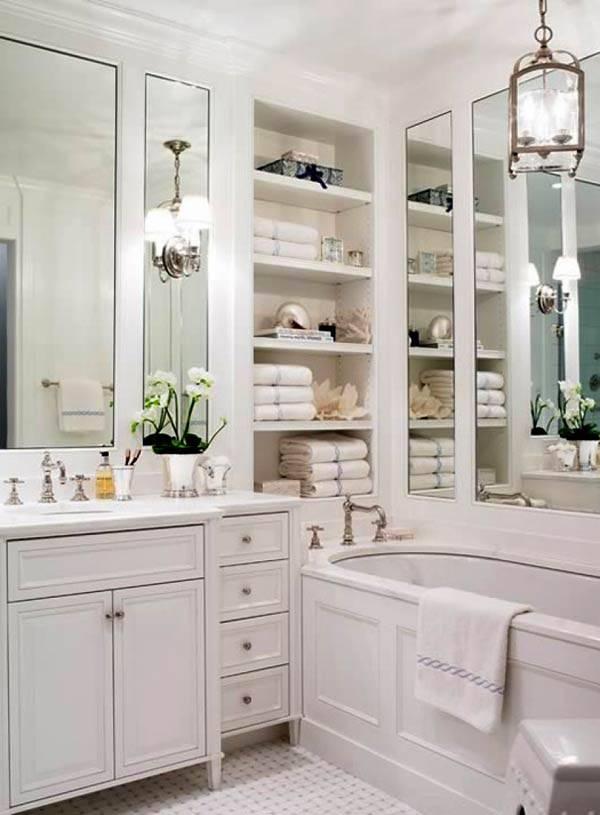 шкаф в ванной комнате фото