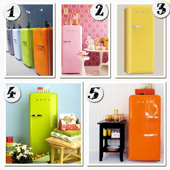 Ретро-холодильники Smeg