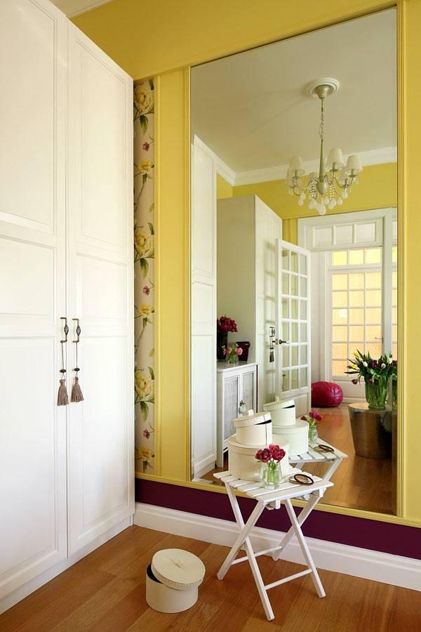 большие зеркала в дизайне квартиры для визуального увеличения комнаты фото