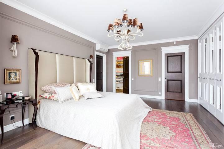 красивая спальня, неоклассика