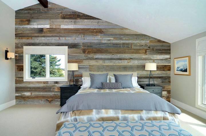 стена из деревянных досок