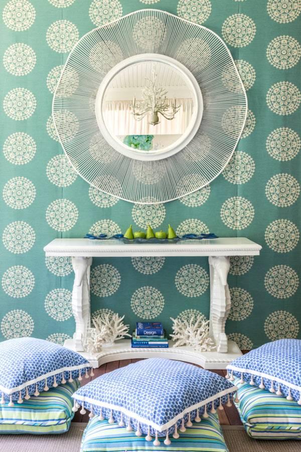 синяя гостиная комната
