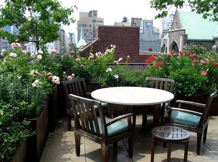 крыша с садом