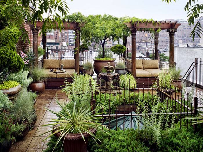 Ландшафтный дизайн крыши