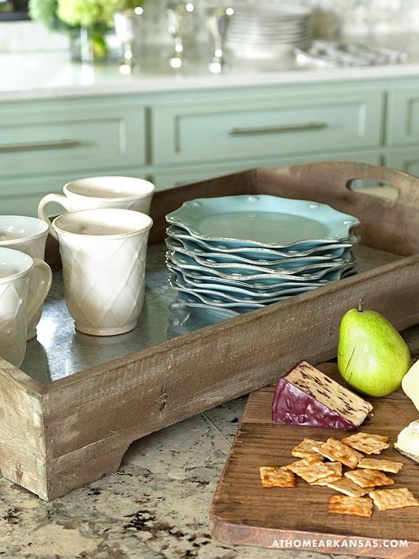 мятный интерьер кухни