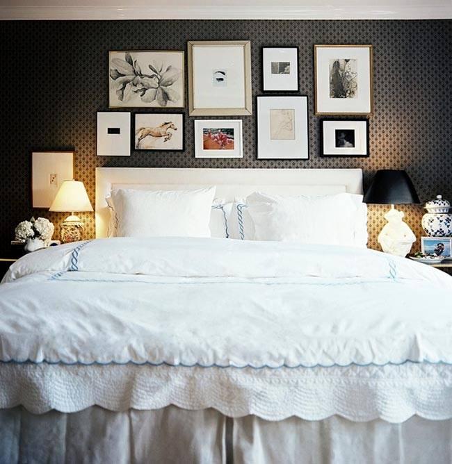 черные обои для спальни