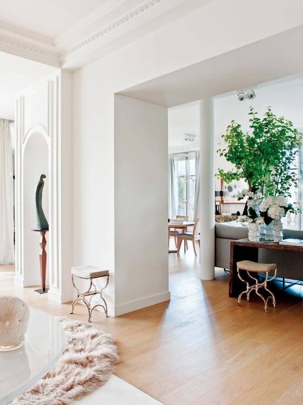 Красивый дизайн интерьера квартиры в Париже (фото)