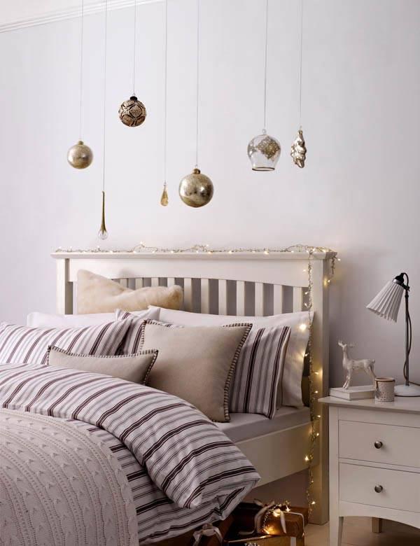 новогодний интерьер спальни