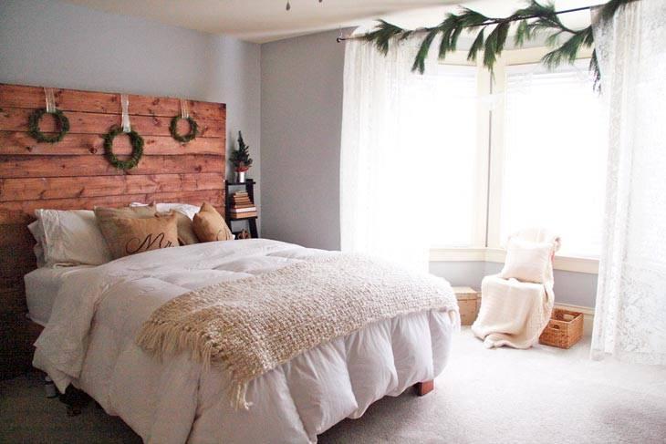 новогоднее украшение спальни
