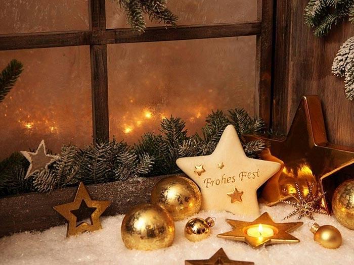 новогоднее украшение интерьера