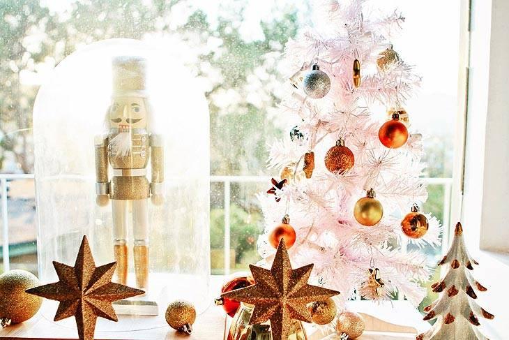 украшение интерьера дома на новый год и рождество