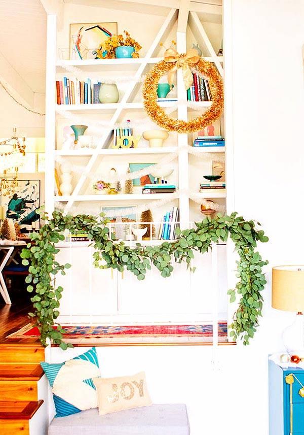 Новогоднее оформление интерьера дома картинки