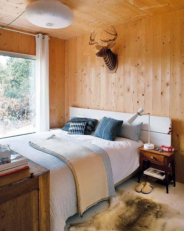 натуральный интерьер деревянного дома