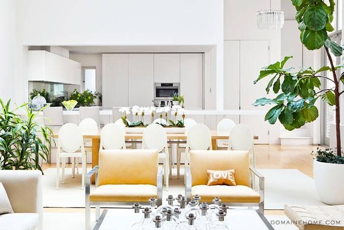 красивый дизайн интерьера дома в Нью-Йорке