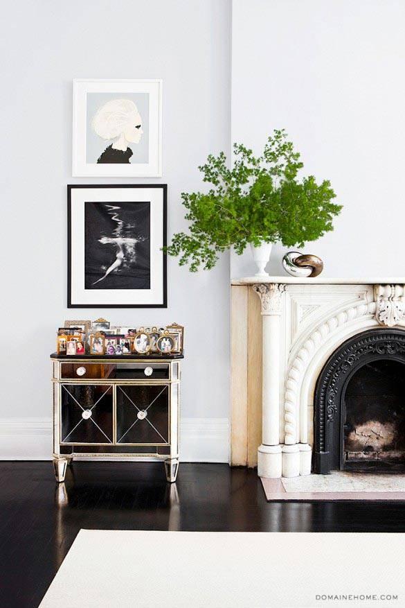 белый интерьер дома в Нью-Йорке